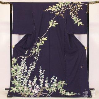 加賀友禅 訪問着 宮野勇造「合歓の木に梅」