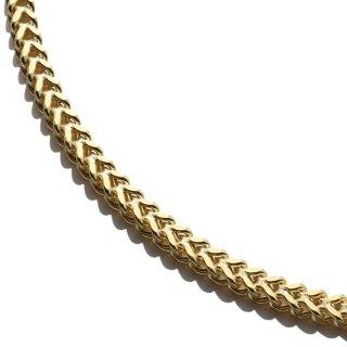 10K イエローゴールド ネックレス 幅3mm 45cm〜60cm