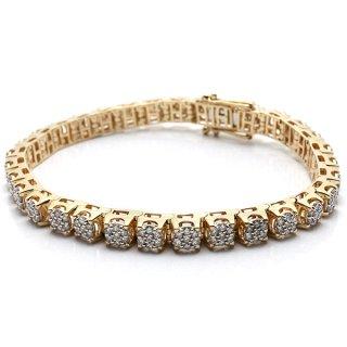 ダイヤモンド 10K イエローゴールド ブレスレット