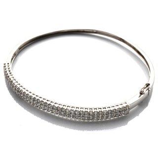 ダイヤモンド 14K ホワイトゴールド ブレスレット