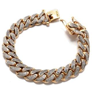 ダイヤモンド 10K イエローゴールド ブレスレット 22cm ※こちらの商品は海外取り寄せ商品の為3〜4週間前後の期間を頂きます