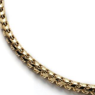 10K イエローゴールド ネックレス 51cm〜70cm