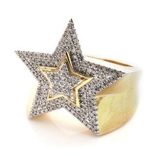 ダイヤモンド 10K イエローゴールド リング 22号 ※こちらの商品は海外取り寄せ商品の為3〜4週間前後の期間を頂きます