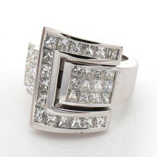 ダイヤモンド 14K ホワイトゴールド リング 12号