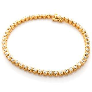 ダイヤモンド 10K イエローゴールド ブレスレット 20cm