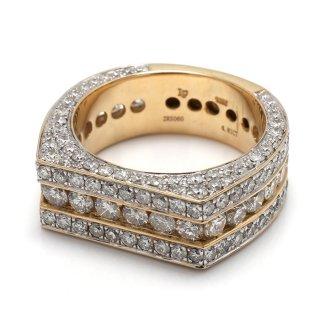 ダイヤモンド 10K イエローゴールド リング 22号