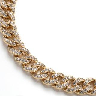 10K イエローゴールド ネックレス 45cm〜51cm