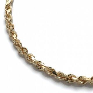 10K イエローゴールド ネックレス 51cm〜61cm