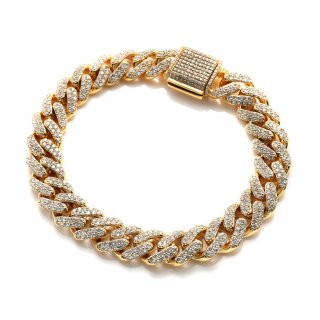 ダイヤモンド 10K イエローゴールド ブレスレット 20cm SJ