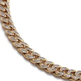 10K イエローゴールド ネックレス 46cm