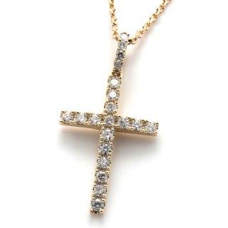 ダイヤモンド 10K イエローゴールド ネックレスセット 50cm