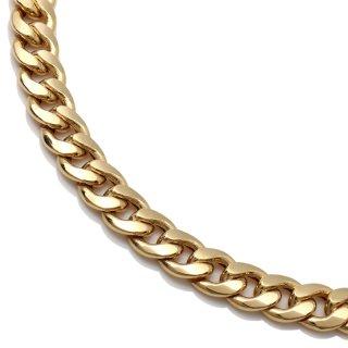 10K イエローゴールド ネックレス 幅7mm 40cm〜60cm