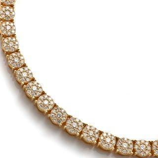 ダイヤモンド 10K イエローゴールド ネックレス 幅5.8mm 50cm