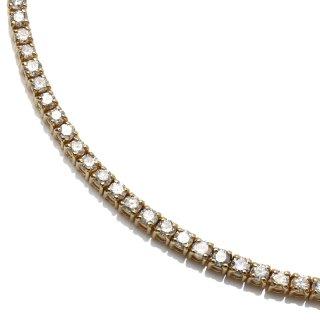 ダイヤモンド 10K イエローゴールド ネックレス 46cm