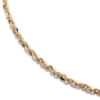 10K イエローゴールド ネックレス 幅2mm 45cm〜60cm