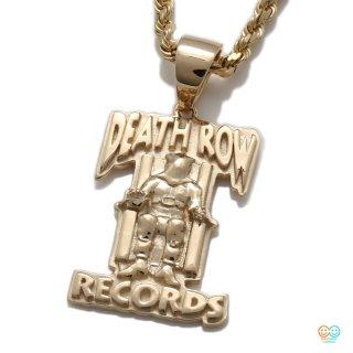 DEATH ROW RECORDS × AVALANCHE 10K イエローゴールド プレートペンダントヘッド
