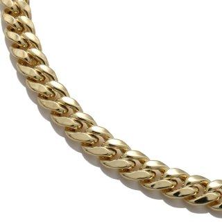 10K イエローゴールド ネックレス 幅5.5mm 45cm〜60cm