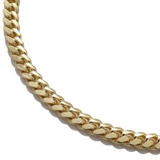 10K イエローゴールド ネックレス 幅5mm 45cm〜60cm