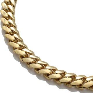 10K イエローゴールド ネックレス 幅7mm 45cm〜60cm