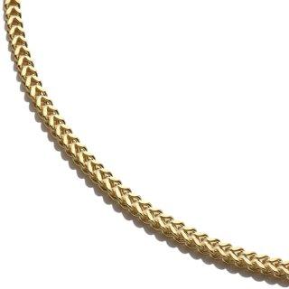 10K イエローゴールド ネックレス 幅2.2mm 40cm〜60cm