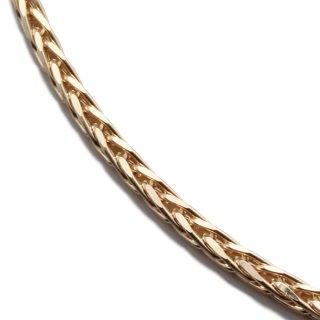 10K イエローゴールド ネックレス 幅1mm 50cm