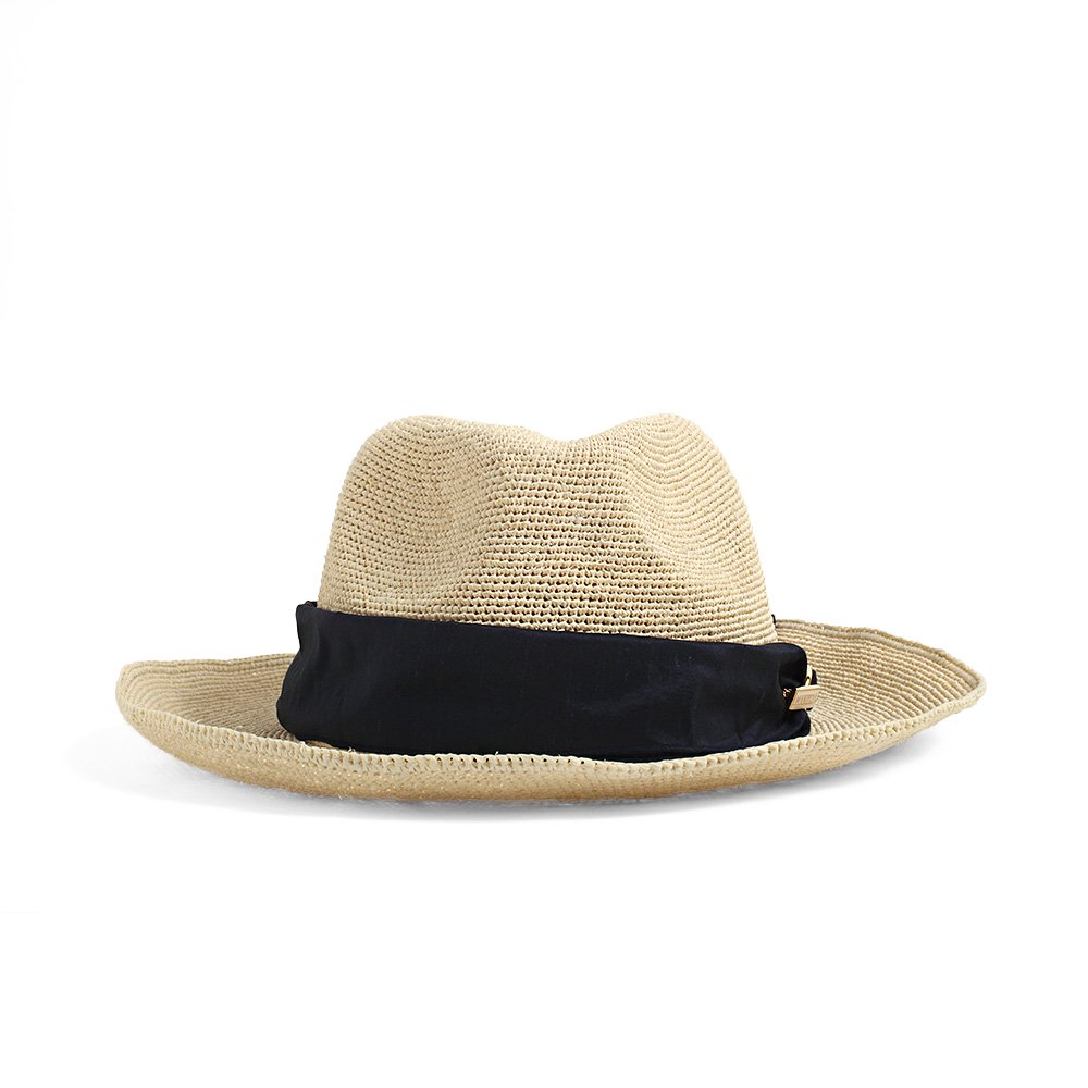 【LADY'S】RAFFIA FOLDABLE HAT(with ribbon)