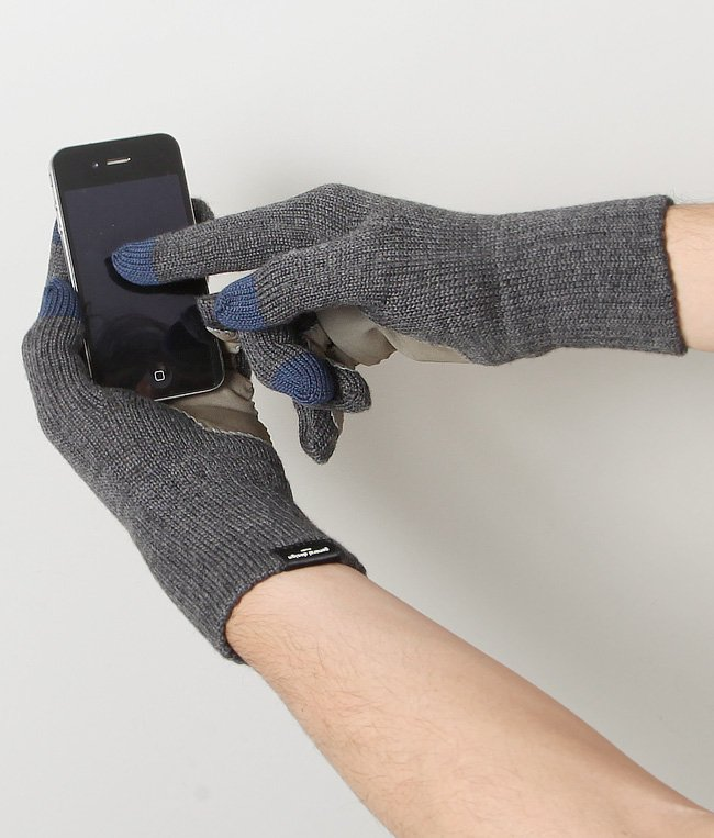 CASHMERE x LEATHER TOUCHPANEL GLOVE 詳細画像6