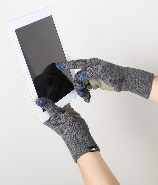 CASHMERE x LEATHER TOUCHPANEL GLOVE 詳細画像7