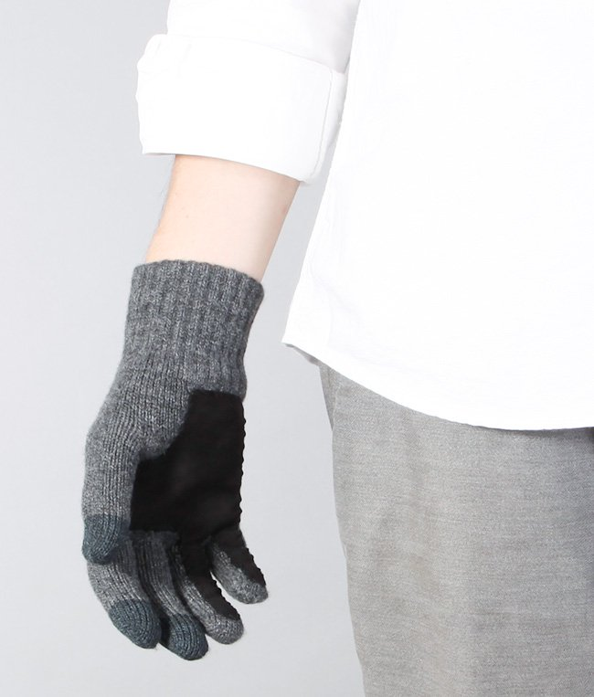 CASHMERE x LEATHER TOUCHPANEL GLOVE 詳細画像8