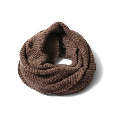 3D HERRINGBONE TWIST NECKWARMER