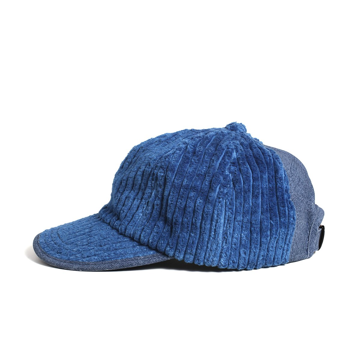 【SALE】LEATHER COMBI CORDUROY 8PANEL CAP 詳細画像1
