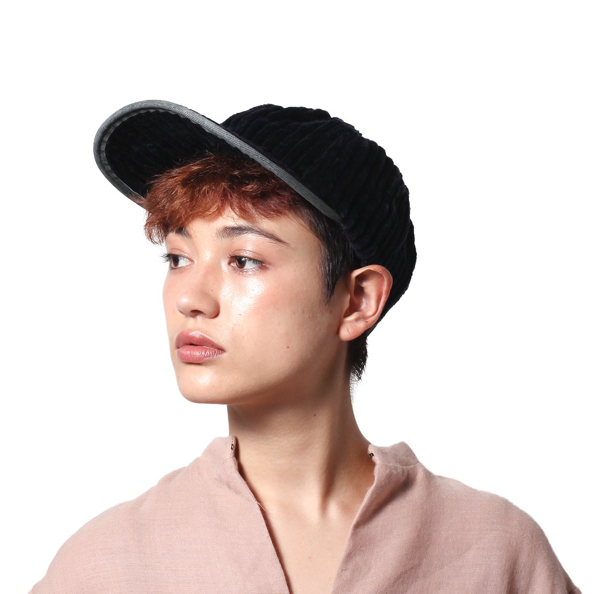 【SALE】LEATHER COMBI CORDUROY 8PANEL CAP 詳細画像12