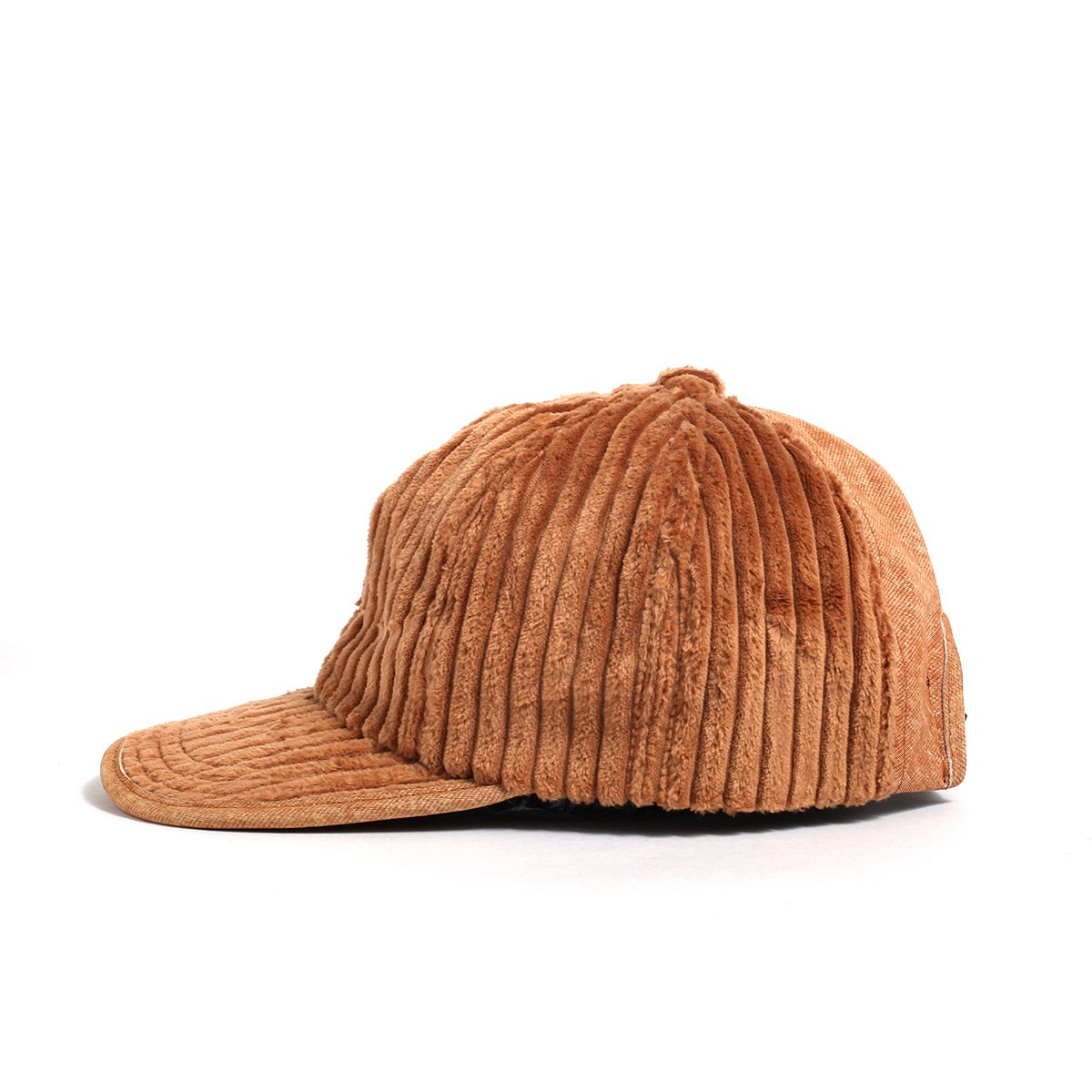 【SALE】LEATHER COMBI CORDUROY 8PANEL CAP 詳細画像2