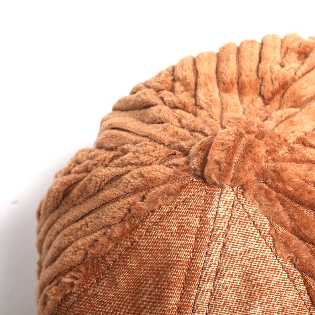 【SALE】LEATHER COMBI CORDUROY 8PANEL CAP 詳細画像7