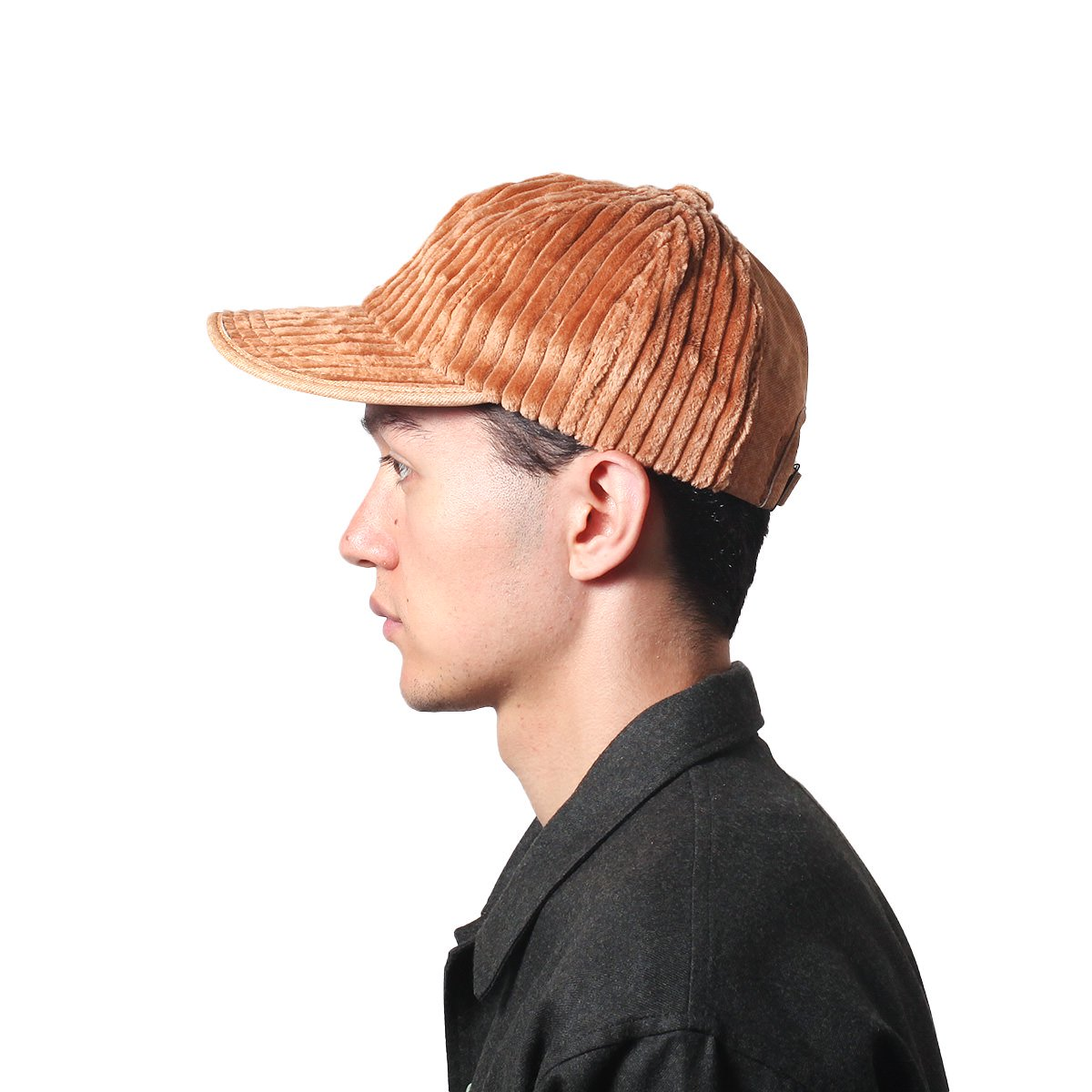 【SALE】LEATHER COMBI CORDUROY 8PANEL CAP 詳細画像8