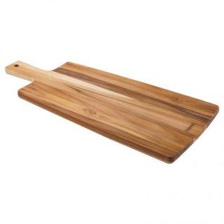 抗菌 木製(チーク) 手付きロングカッティングボード 48×19cm KITCHEN