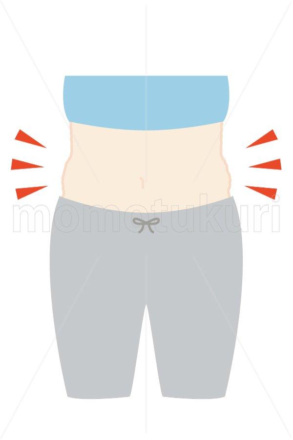 美容-痩せる ダイエット ぽっこりお腹 (blue) トップス:ブルー スウェット:グレー