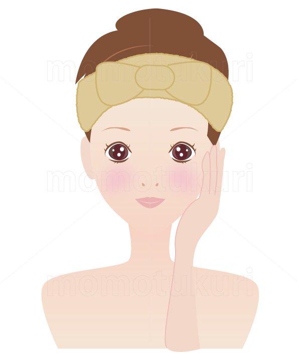 美容-スキンケア 肌  美肌 洗顔 スキンケア  ヘアバンドを巻く女性 7
