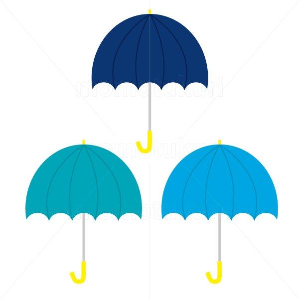 かさ(傘)3本 梅雨 2