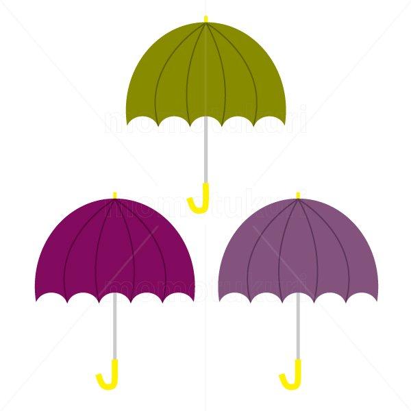 かさ(傘)3本 梅雨 4