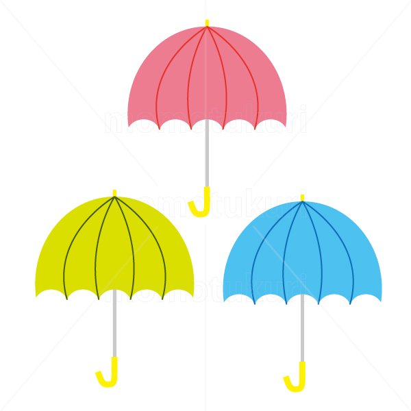 かさ(傘)3本 梅雨 6