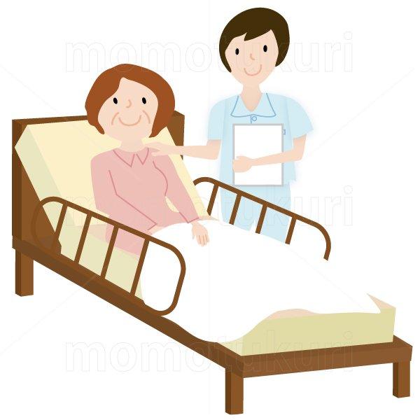 介護  女性介護士     介護ベット お年寄り 4