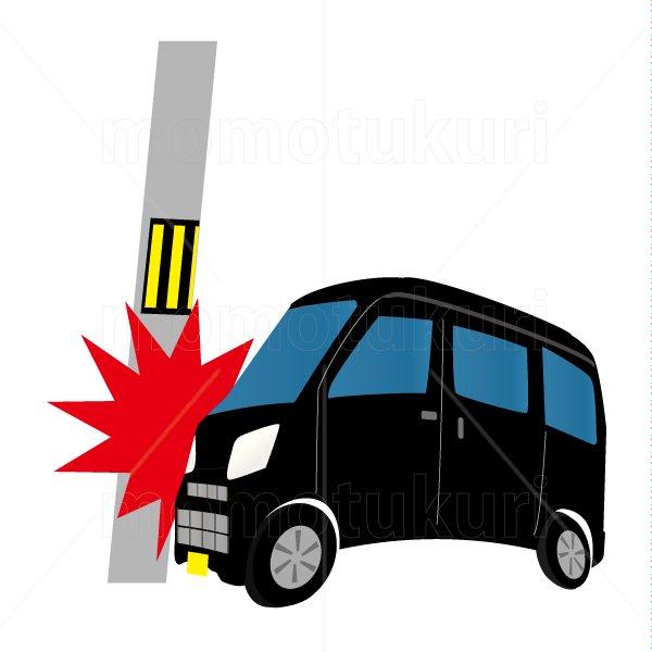 自動車(車) ワゴン 黒 交通事故