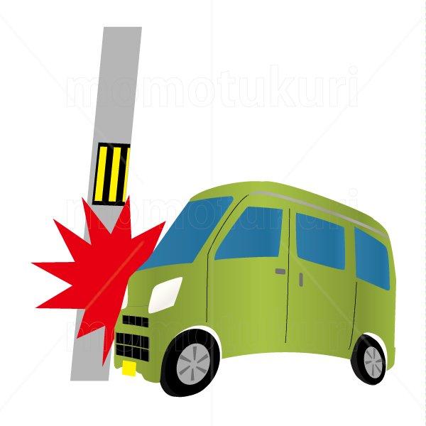 自動車(車) ワゴン 緑 交通事故