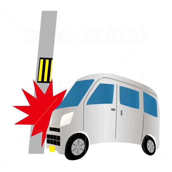自動車(車) ワゴン 銀(シルバー) 交通事故