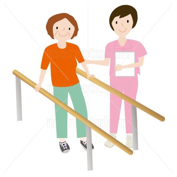 介護  女性介護士    リハビリ 歩行訓練 老人 おばあさん