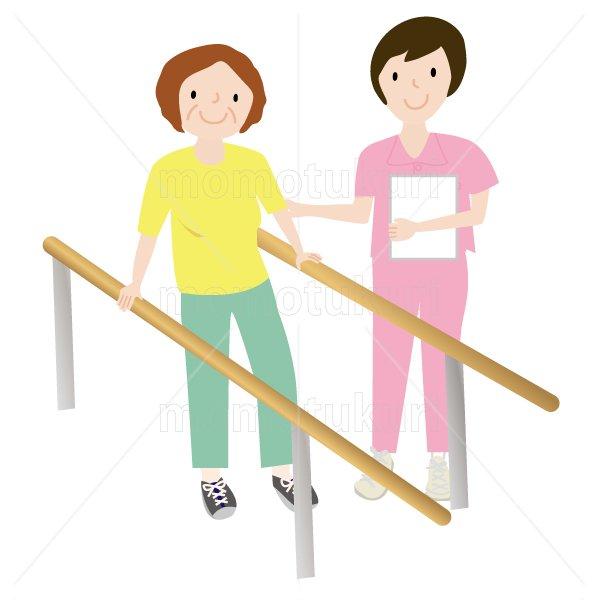 介護  女性介護士    リハビリ 歩行訓練 老人 おばあさん 2