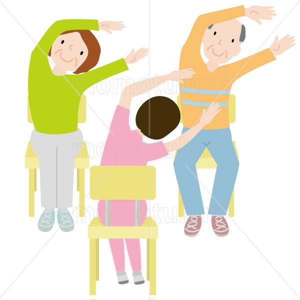 介護  女性介護士    リハビリ(健康体操、ストレッチ、トレーニング) 体操 健康 高齢者 おばあさん  おじいさ…