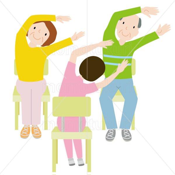 介護  女性介護士    リハビリ(健康体操、ストレッチ、トレーニング) 体操 健康 高齢者 おばあさん  おじいさん …