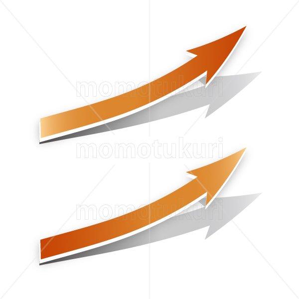 矢印(やじるし、矢じるし)上がる 上向き 上昇 ビジネス 赤